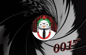 007 CodeCodeCodec pour les enfants. Poussin déguisé en agent
