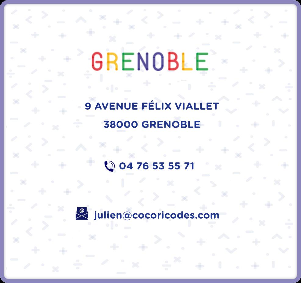 Cocoricode Grenoble Informations